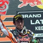 GP Kegums - Cairoli vince gara due ed è secondo sul podio.