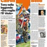 la Gazzetta su Tony campione