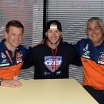 2015: Tommy Searle con Cairoli e De Dycker.